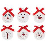 Snowman Face Ball Ornaments