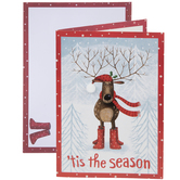 'Tis The Season Reindeer Cards & Envelopes
