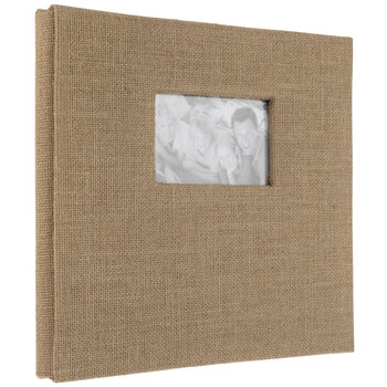 """Burlap Post Bound Scrapbook Album - 12"""" x 12"""""""