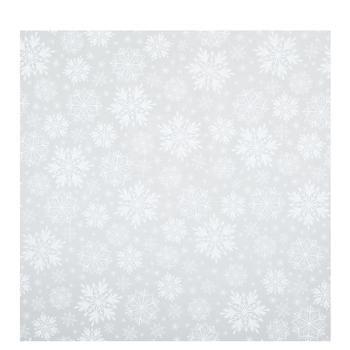 White Snowflakes Basket Wrap