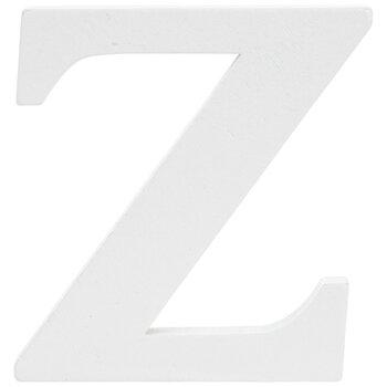 """White Wood Letter Z - 3"""""""