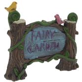 Fairy Garden Sign With Birds & Vines