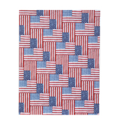 "American Flags Herringbone Scrapbook Paper - 8 1/2"" x 11"""