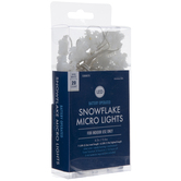 White Snowflake Battery Operated Micro Lights
