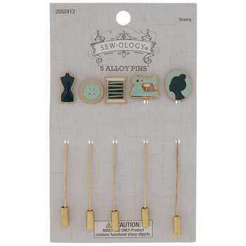 Teal Sewing Pins