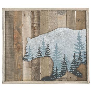 Bear Wood Wall Decor