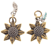 Burnished Flower Earring Charms