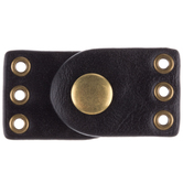 Brown Imitation Leather Clasps - 27mm