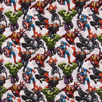 Avengers Unite Cotton Calico Fabric