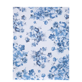 "Blue & White Floral Paper - 8 1/2"" x 11"""