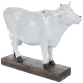 White Cow On Stand