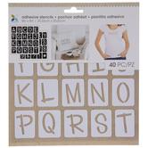 Fun Uppercase Alphabet Adhesive Stencils