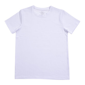 White Adult Crew Neck T-Shirt