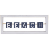 Beach Sliding Blocks Wood Decor