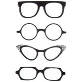 Eye Glasses 3D Stickers