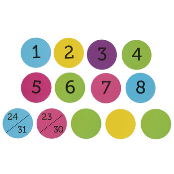 Calendar Numbers Mini Cutouts