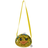 Yellow Chick Flip Sequin Pouch