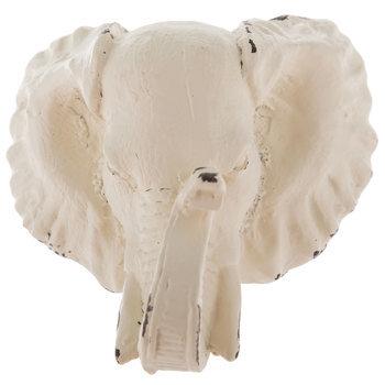 Rustic White Elephant Knob