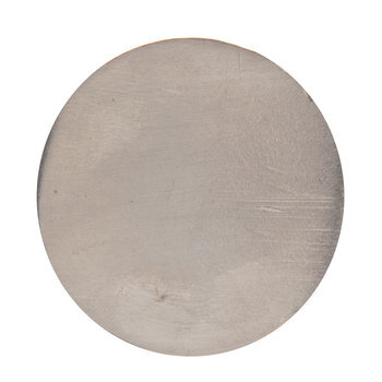 Silver Flat Metal Knob