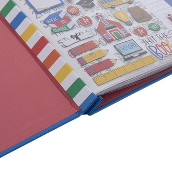 "Back To School Post Bound Scrapbook Album Kit - 8"" x 8"""