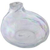 Iridescent Irregular Glass Vase