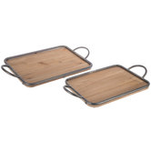 Farmhouse Wood Tray Set