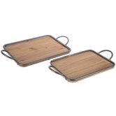 Farmhouse Wood Tray Set