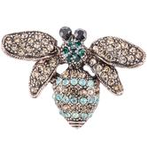Bee Rhinestone Brooch