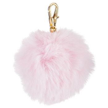 Soft Pink Pom Pom Keychain
