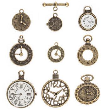 Clocks & Time Metal Charm Embellishments