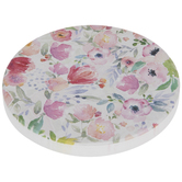 Pink On Cream Floral Car Coaster
