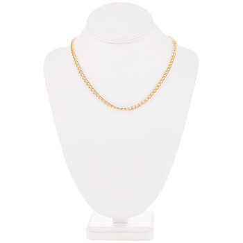 """10K Gold Plated Curb Chain Necklace - 18"""""""