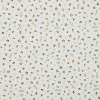 Bees Flannel Fabric