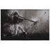 Black & White Swinging Baseball Bat Canvas Wall Decor