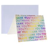 Rainbow Foil Thank YouCards