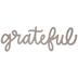 Grateful Chipboard Shape