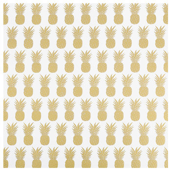 "Pineapple Foil Scrapbook Paper - 12"" x 12"""