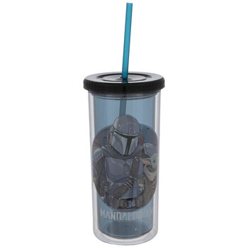 Star Wars The Mandalorian Cup with Straw