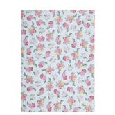 """Small Floral on Mint Scrapbook Paper - 8 1/2"""" x 11"""""""