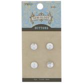 Round Rhinestone Shank Buttons - 8mm