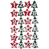 Christmas Felt Number 3D Stickers