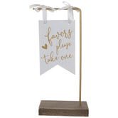 Favors Pennant Wood Decor