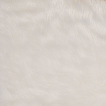 White Long Pile Faux Fur Fabric