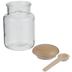 Glass Jar With Spoon - 8 Ounce