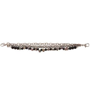 Beaded Chain Connector Bracelet