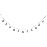 Antique Silver Bells Garland
