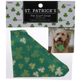Green & Tan Shamrocks Pet Scarf