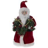 Santa Claus With Garland Tree Topper