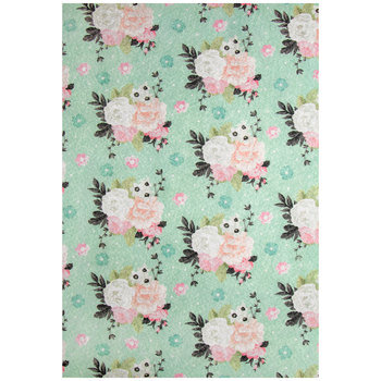 Pastel Floral Felt Sheet