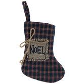 Noel Plaid Stocking - Mini